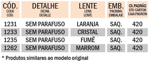 LENTE XR 200R / XLR 125 / TORNADO / BROS / POP
